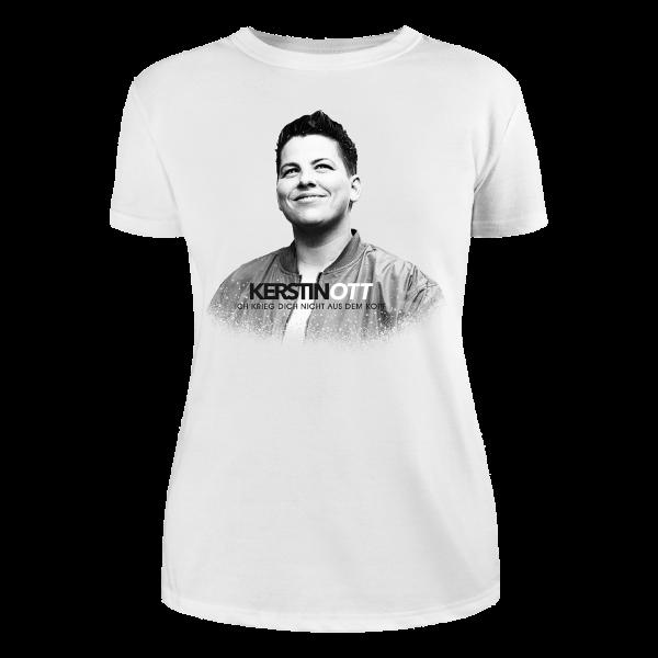 Kerstin Ott - Girlie-Shirt - Ich Krieg Dich Nicht Aus Dem Kopf (weiße Edition)