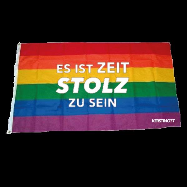 """Kerstin Ott - Regenbogen Flagge """"Es Ist Zeit Stolz Zu Sein"""""""