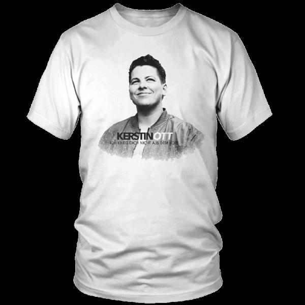Kerstin Ott - T-Shirt - Ich Krieg Dich Nicht Aus Dem Kopf (weiße Edition)