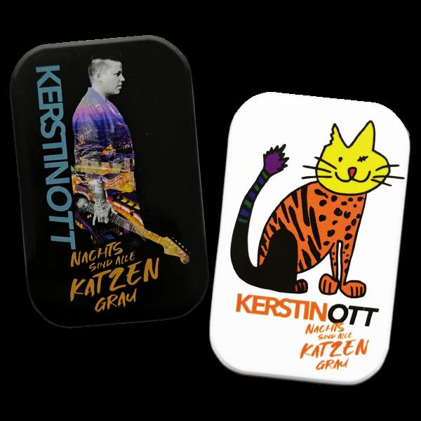 Kerstin Ott - 2er Magnet Set - Katze und Album