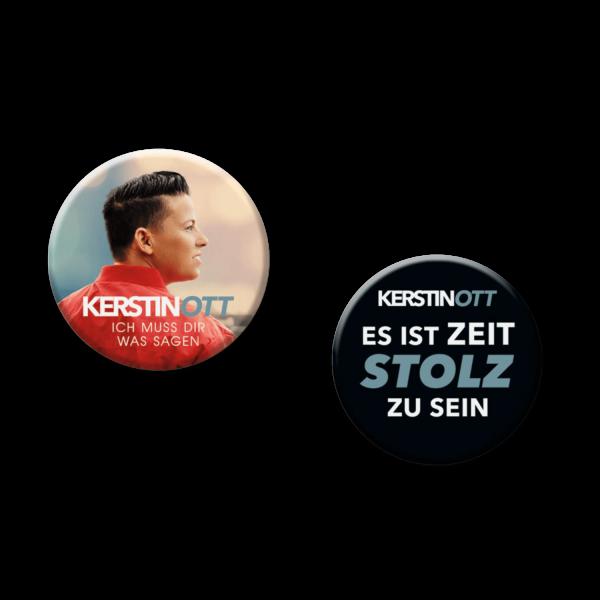 Kerstin Ott - Ich Muss Dir Was Sagen - 2er Button Set